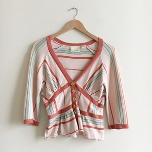 Anthropologie Guinevere Candy Pattern Cardigan